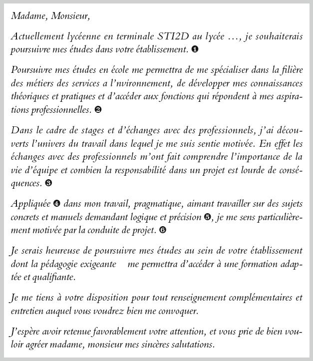 Lettre De Motivation Pour Projet Professionnel: Lettre De Motivation Bts Ava Modele