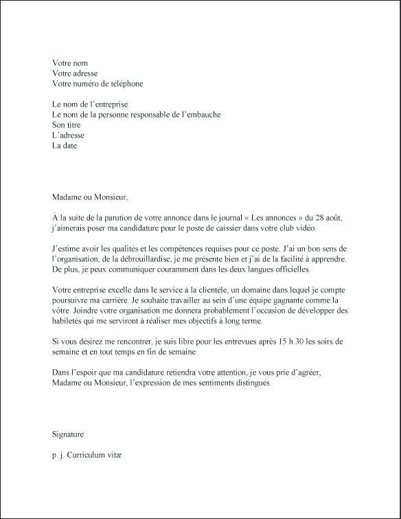 lettre de motivation caissiere sans experience - Modele de ...