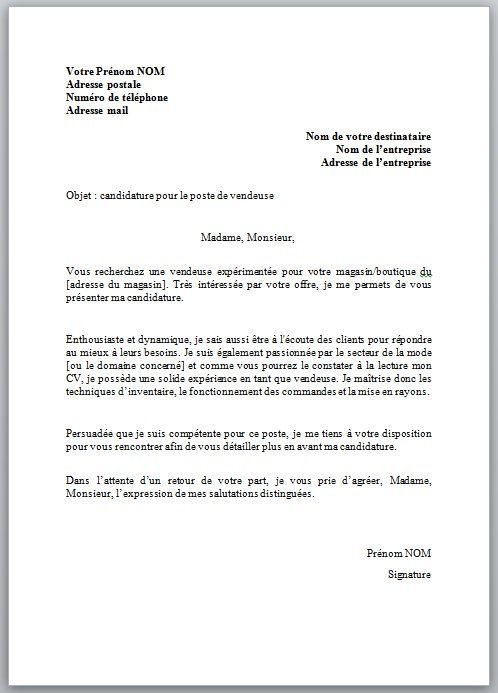 lettre de motivation controleur