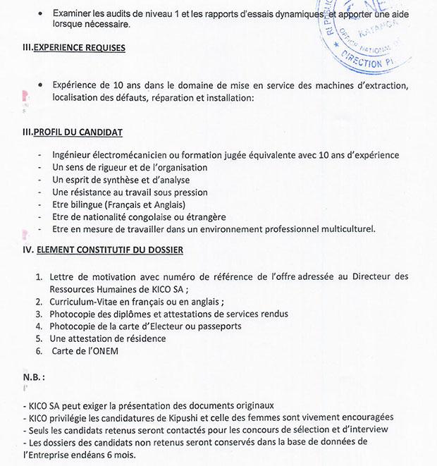 lettre de motivation electromecanicien