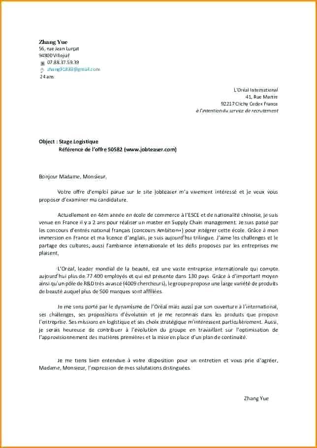 lettre de motivation exemple gratuit pdf - Modele de ...