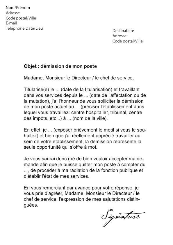 lettre de motivation gratuite fonction publique