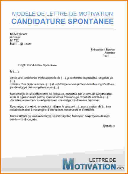 lettre de motivation pour candidature spontanee vendeuse