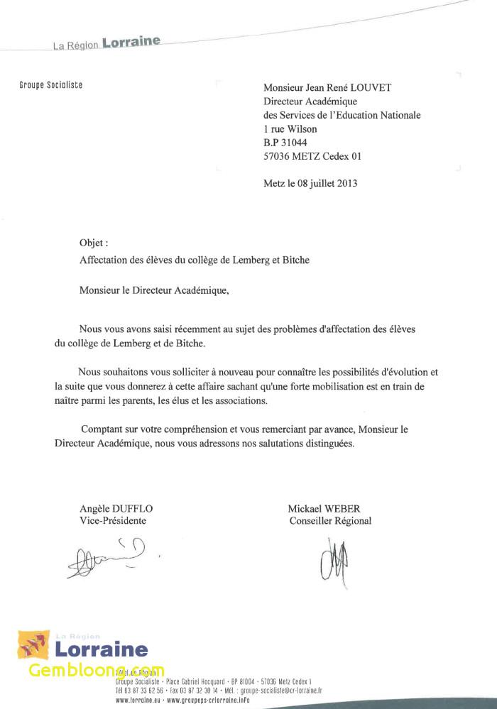 lettre de motivation pour changement de region
