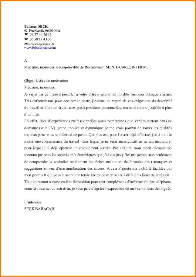 lettre de motivation pour tous les emplois