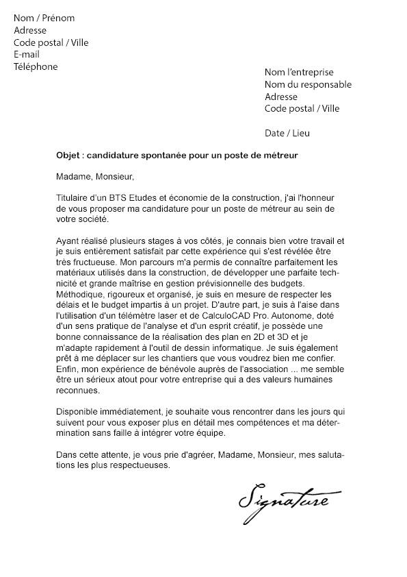 lettre de motivation pour un emploi ingenieur genie civil ...