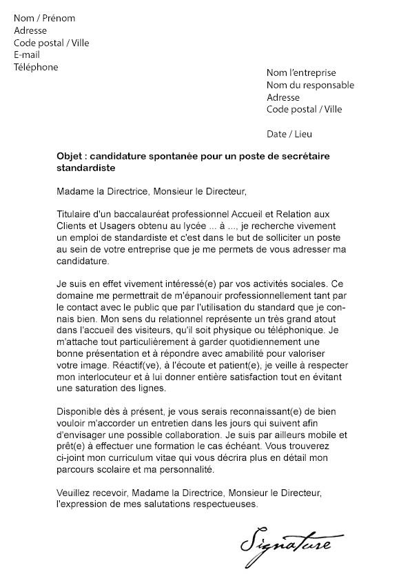 lettre de motivation secretaire debutante - Modele de ...