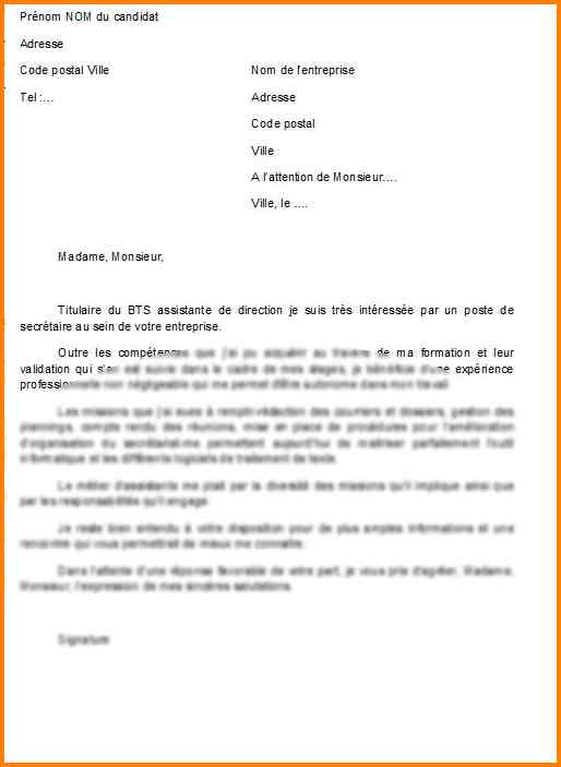 lettre de motivation stage assistante de direction