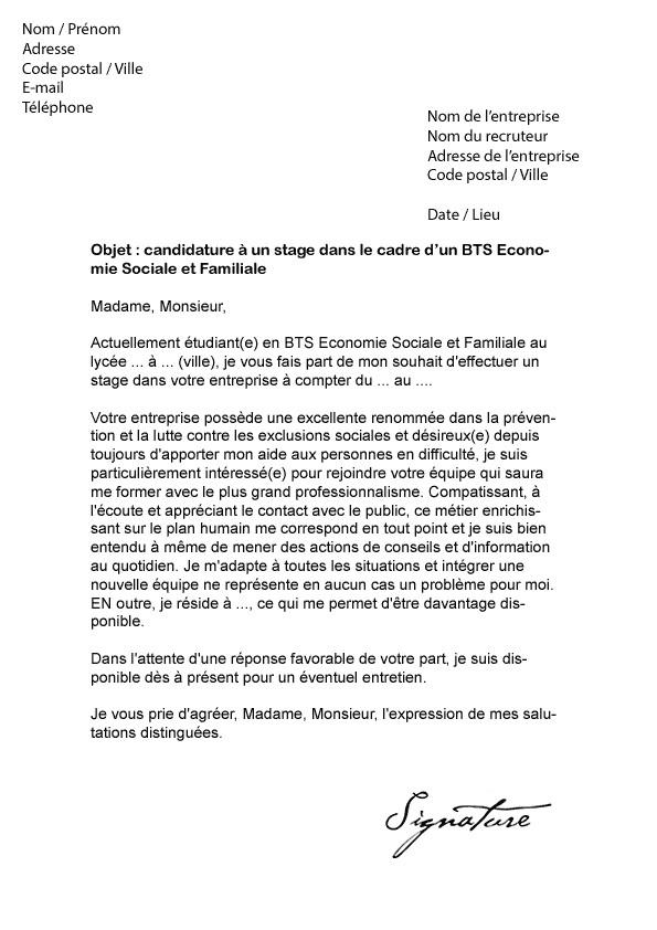 lettre de motivation stage en entreprise bts muc - Modele ...