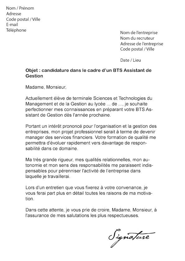 lettre de motivation stage informatique de gestion ...