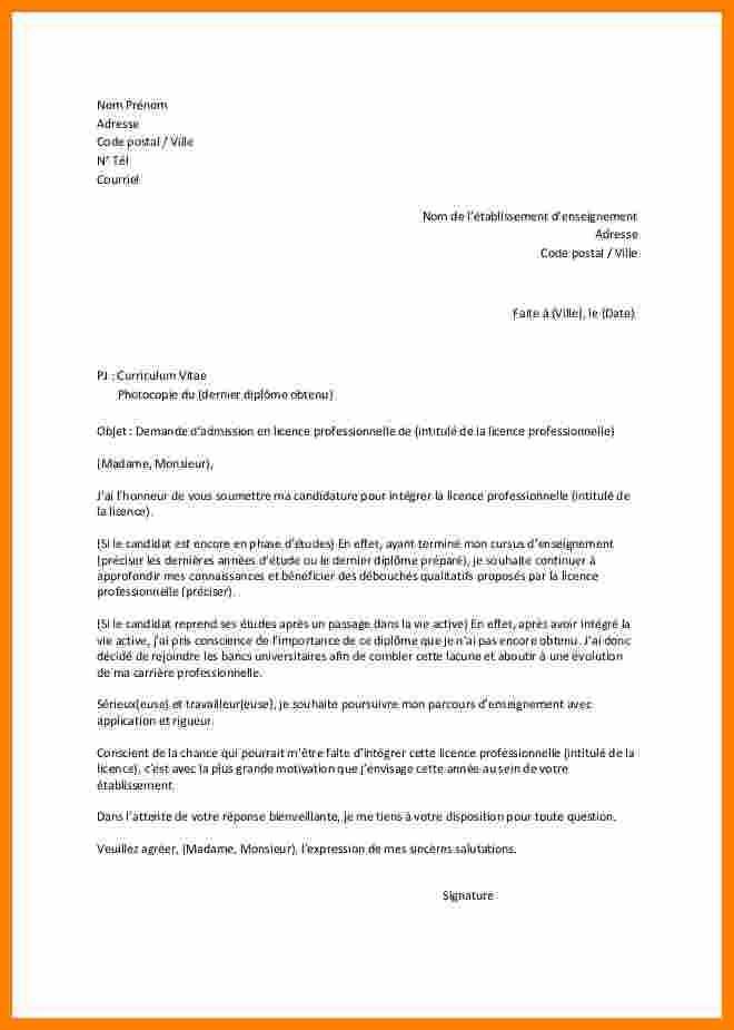 lettre de motivation stage licence pro banque - Modele de ...