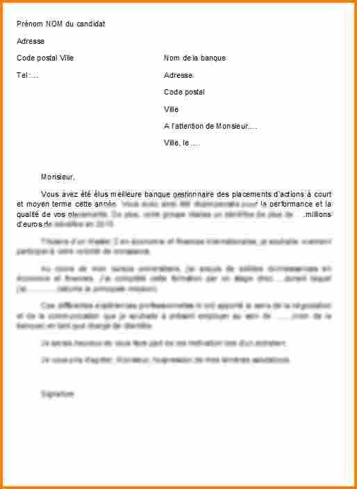 lettre de motivation suisse modele - Modele de lettre type