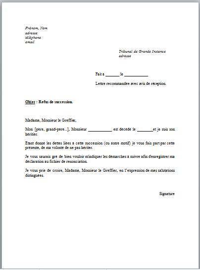 lettre de procuration notaire