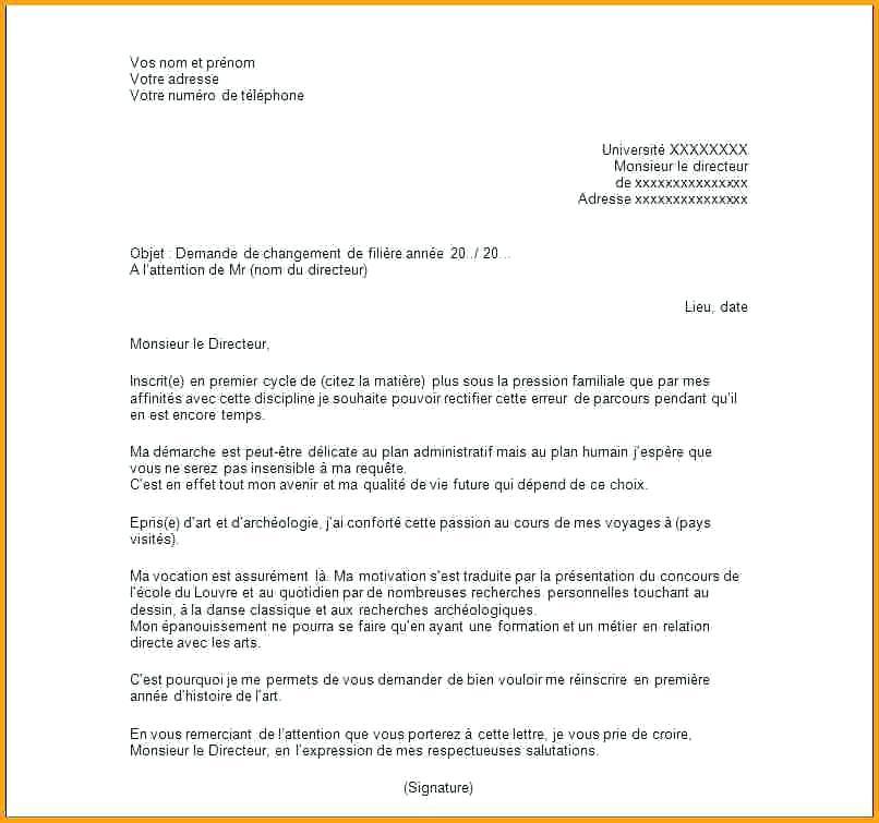 lettre de requete