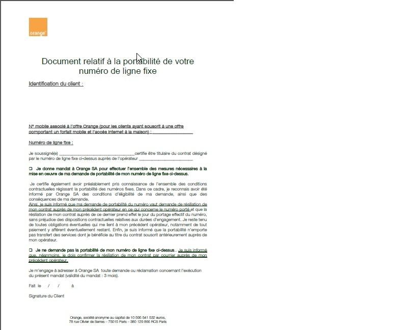 lettre resiliation orange demenagement - Modele de lettre type