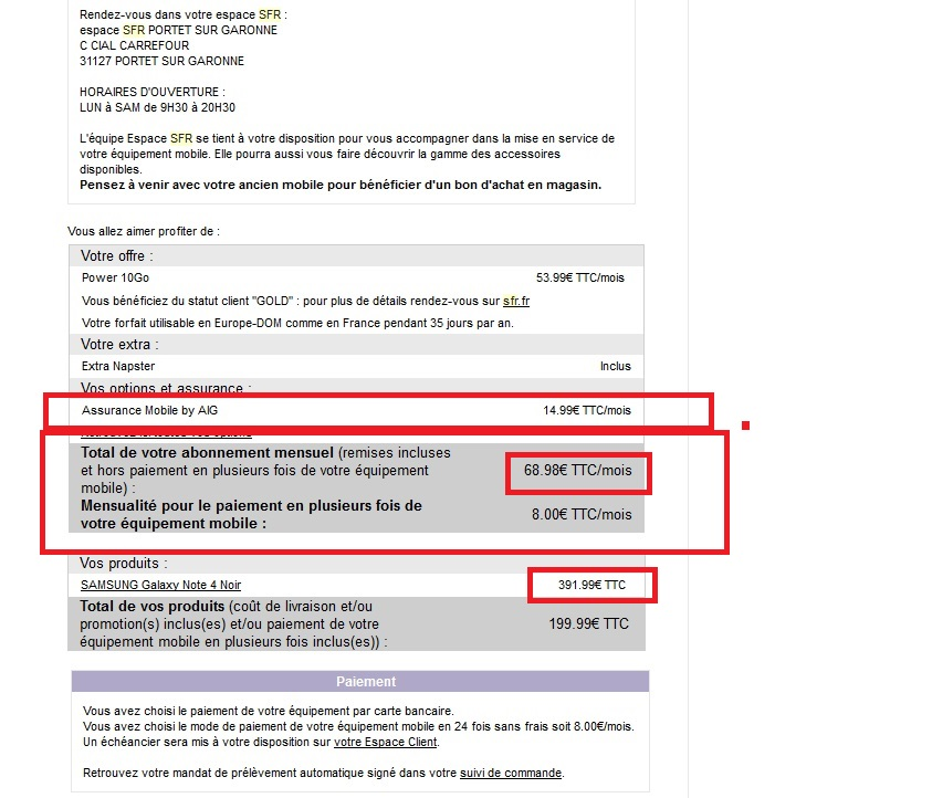 lettre de resiliation assurance telephone sfr