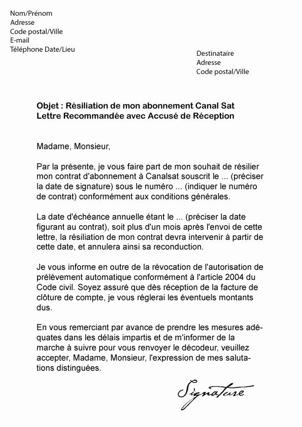 lettre de resiliation internet demenagement