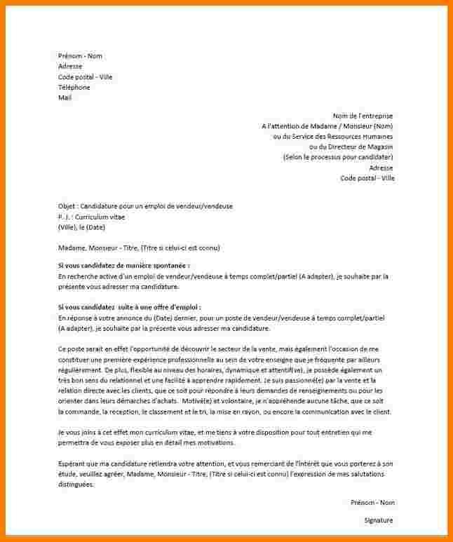 lettre de vente - Modele de lettre type