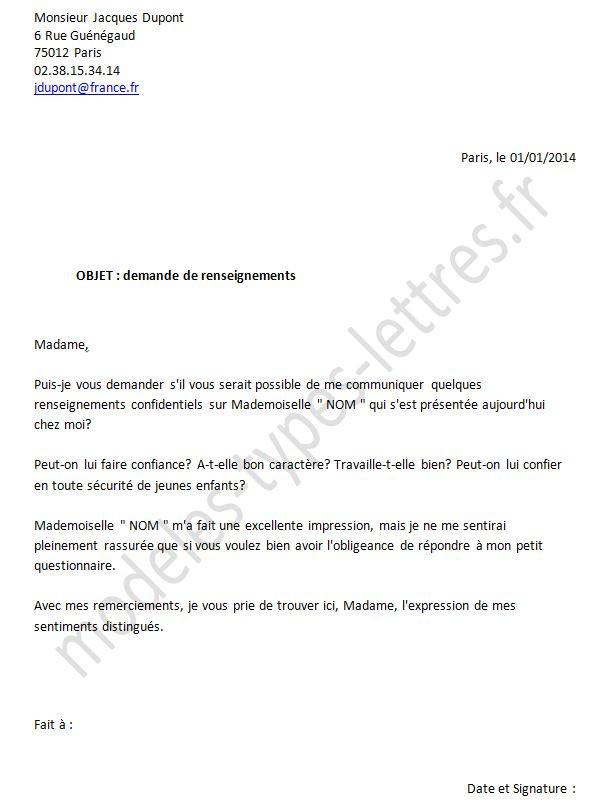 lettre demande autorisation - Modele de lettre type