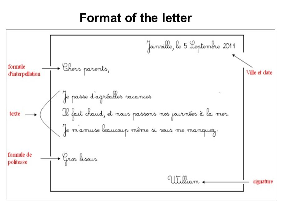 lettre form