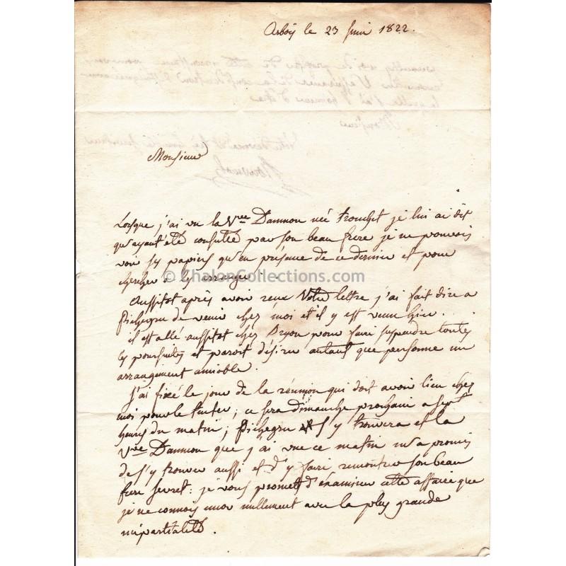 lettre manuscrite - Modele de lettre type