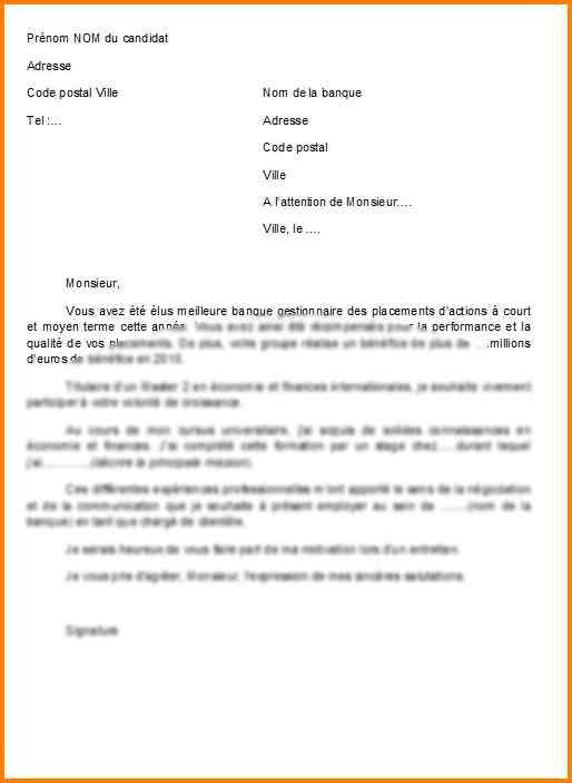 lettre motivation candidature spontanee commercial - Modele de lettre type