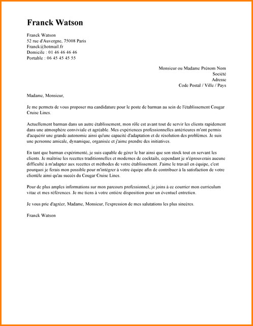 lettre motivation infographiste