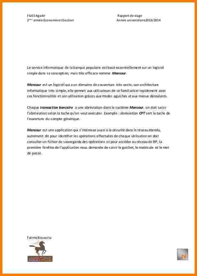 lettre motivation stage banque - Modele de lettre type