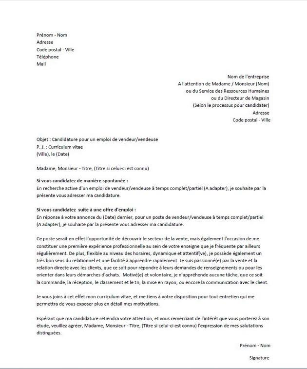 lettre motive