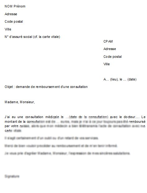 lettre pour demander