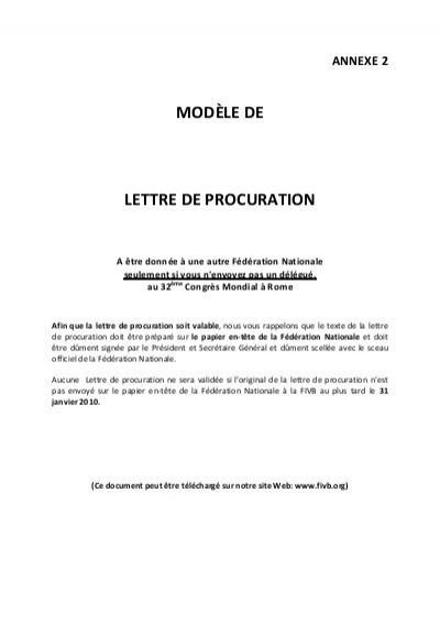 lettre pour donner procuration - Modele de lettre type