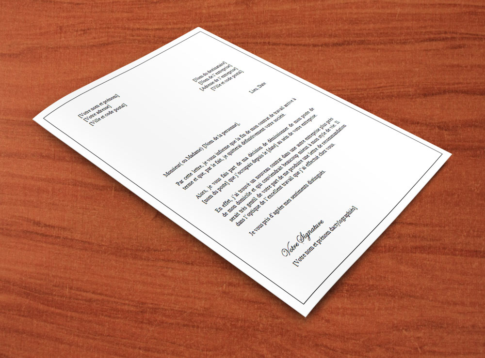 lettre pour ne pas renouveler un contrat