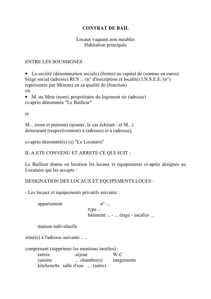 lettre resiliation bail meuble par le locataire