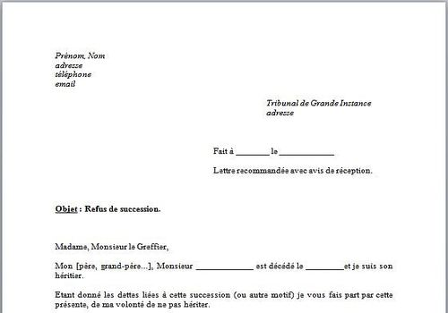 lettre type word
