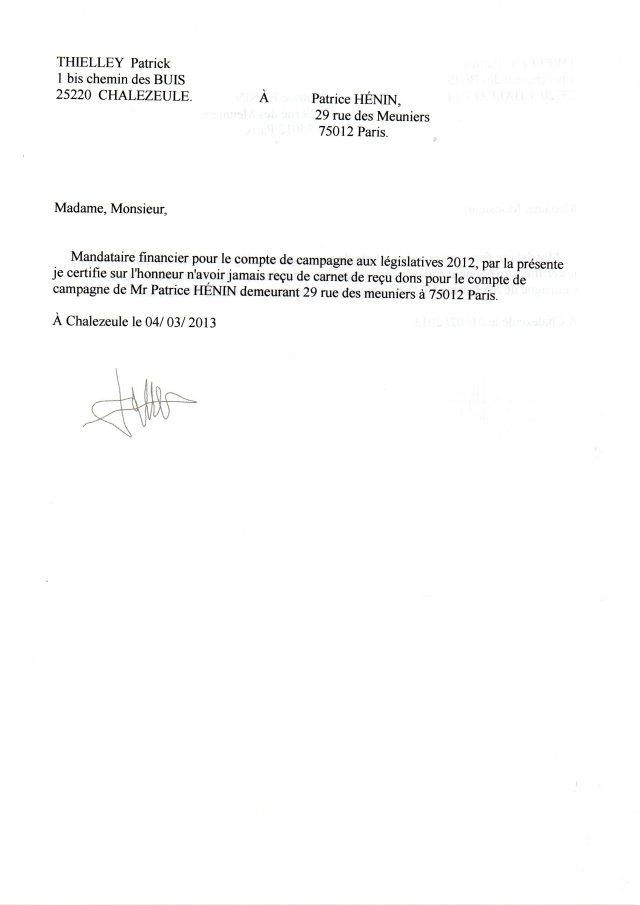 model de lettre d'attestation sur l'honneur