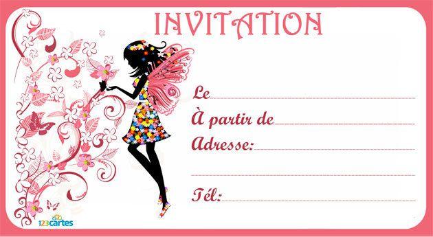 modele d invitation anniversaire