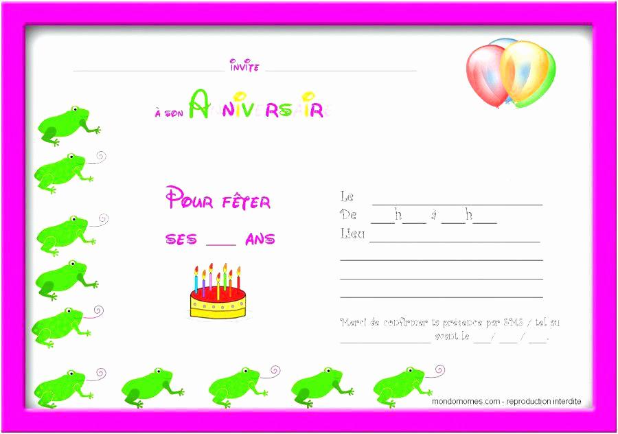 modele d'invitation d'anniversaire gratuite - Modele de lettre type