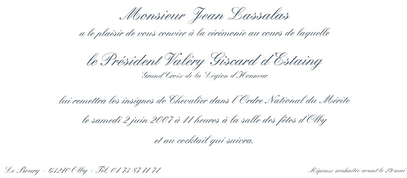 modele d'invitation officielle