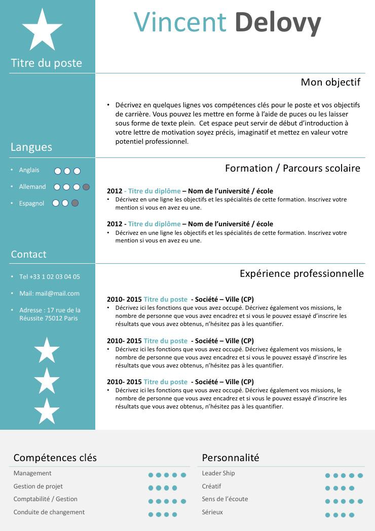 modele de cv a imprimer gratuit - Modele de lettre type