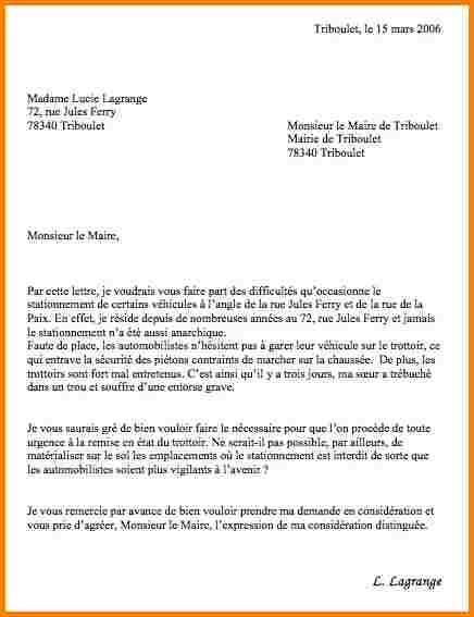 modele de lettre administrative mairie gratuit - Modele de ...
