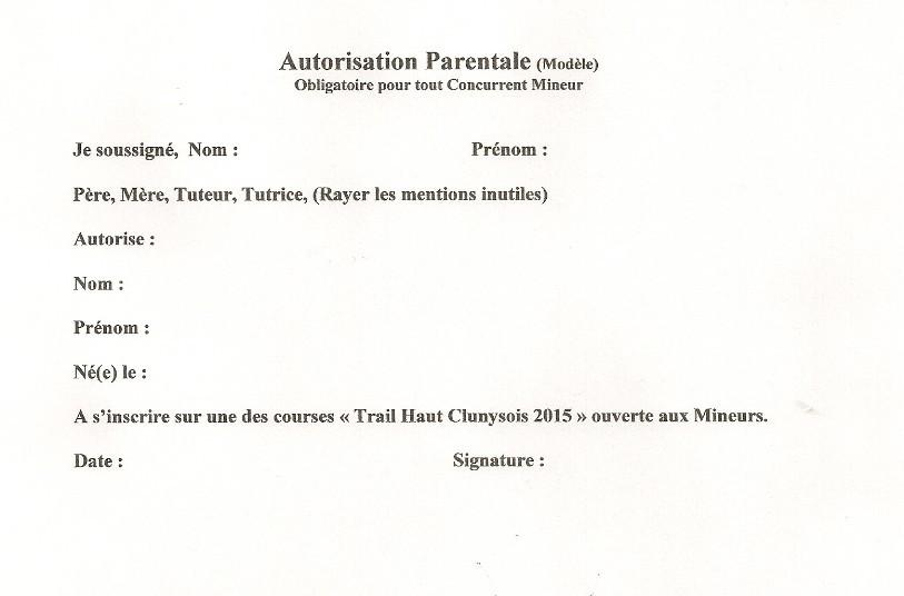 modele de lettre d'autorisation parentale pour voyager - Modele de lettre type