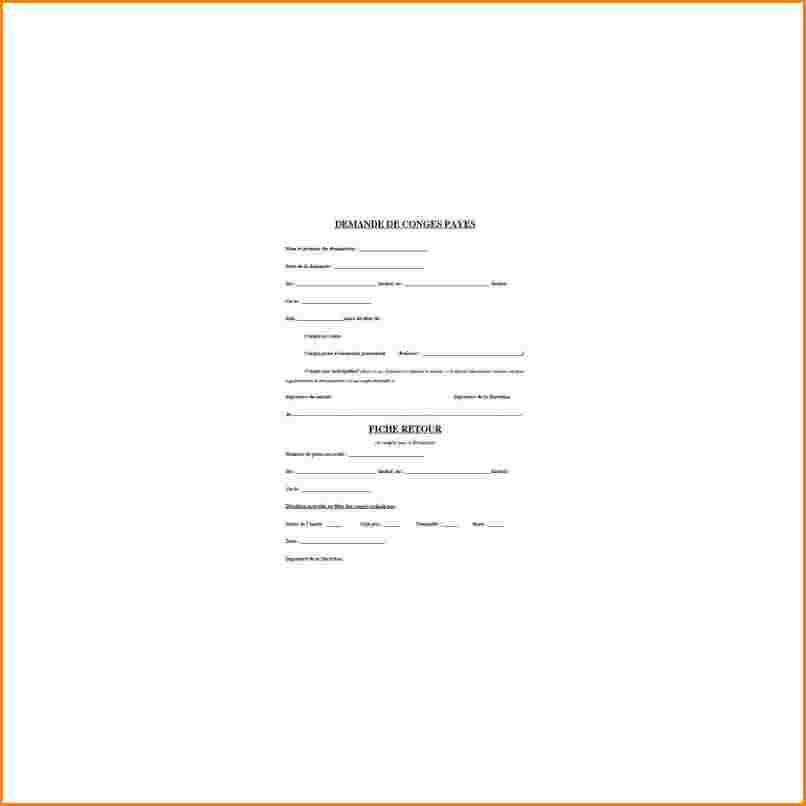 modele de lettre de demande de conge paye - Modele de lettre type