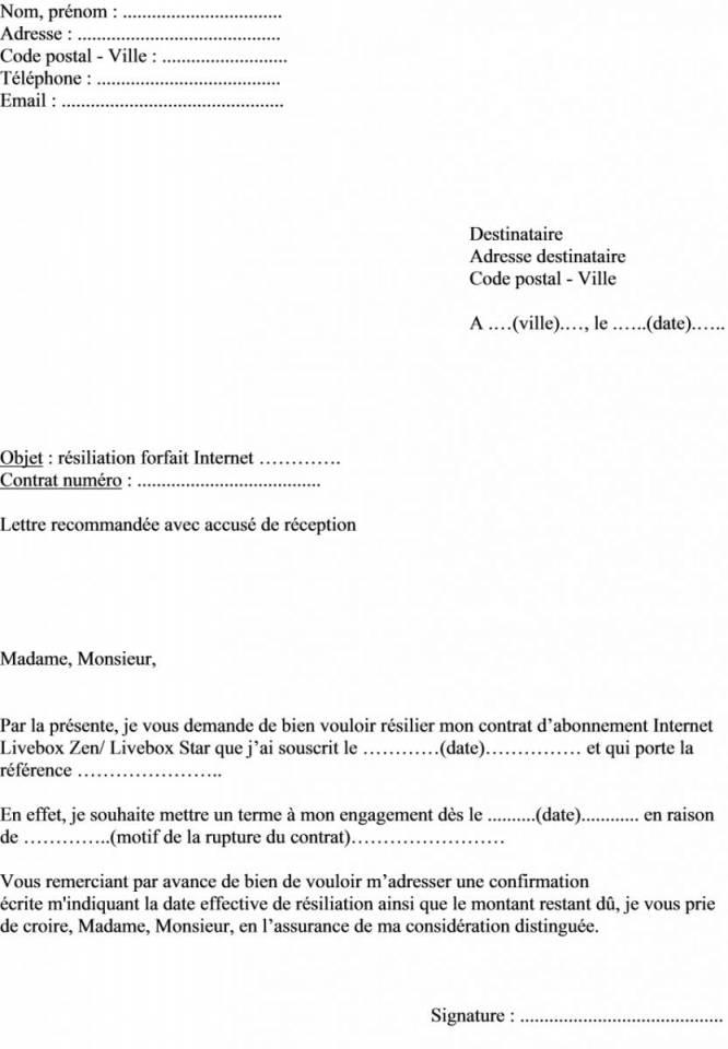 modele de resiliation assurance habitation - Modele de lettre type