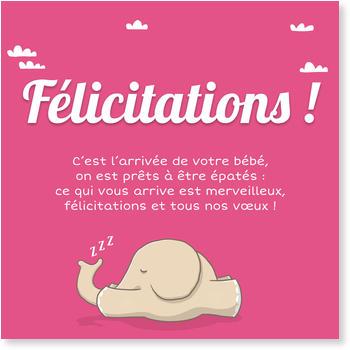 modele felicitation naissance