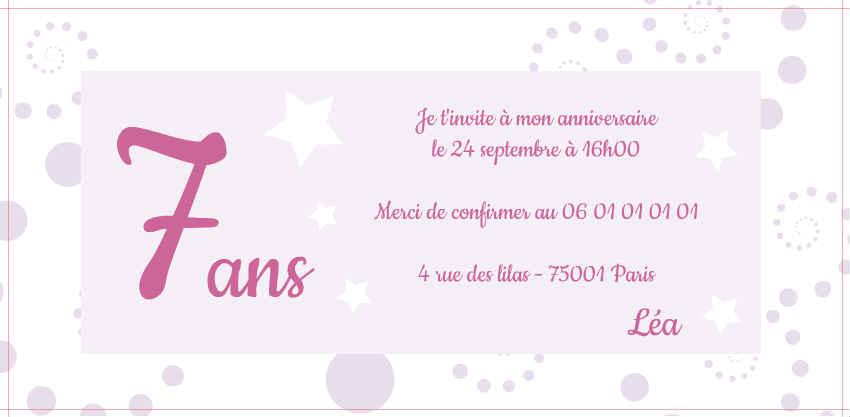 modele gratuit invitation anniversaire