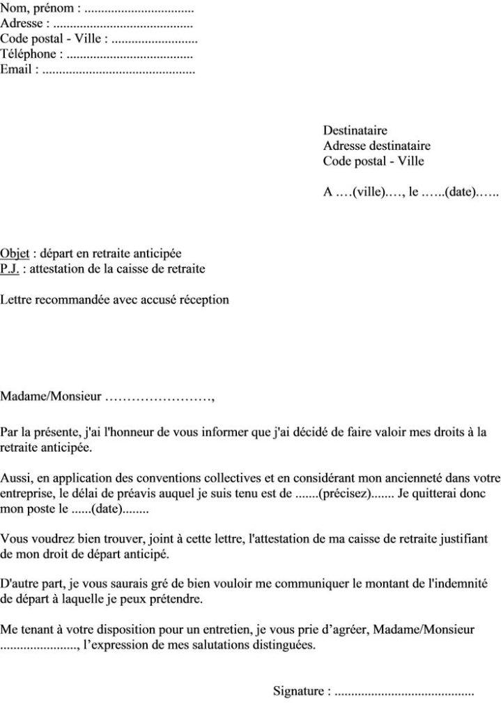 modele lettre de conge parental - Modele de lettre type