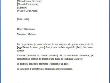 modele lettre de demission d'une association gratuite ...