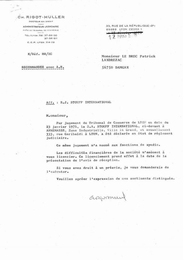 modele lettre de licenciement - Modele de lettre type