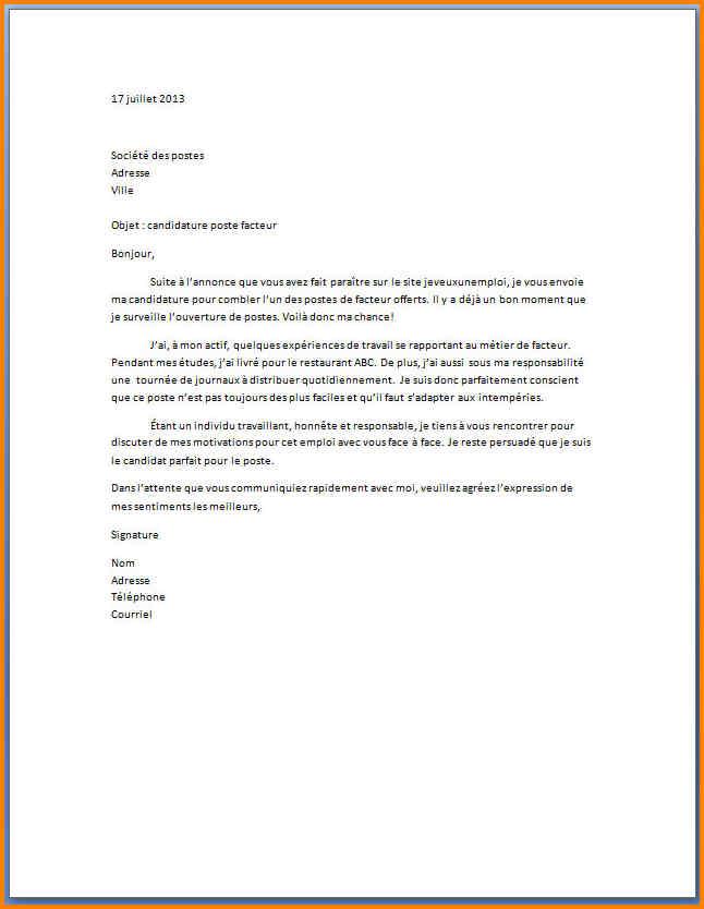 modele lettre de motivation caissiere sans experience - Modele de lettre type