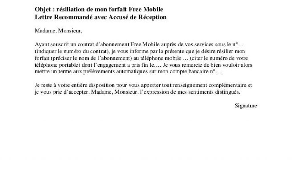 Modèle Lettre De Résiliation Freebox - Modele De Lettre De ...